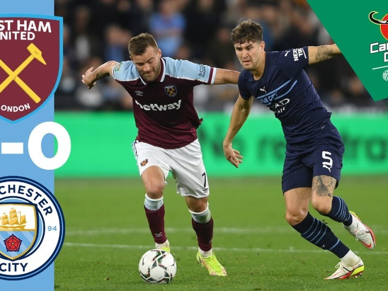Man City highlights! | West Ham United win 5-3 on penalties | Carabao Cup