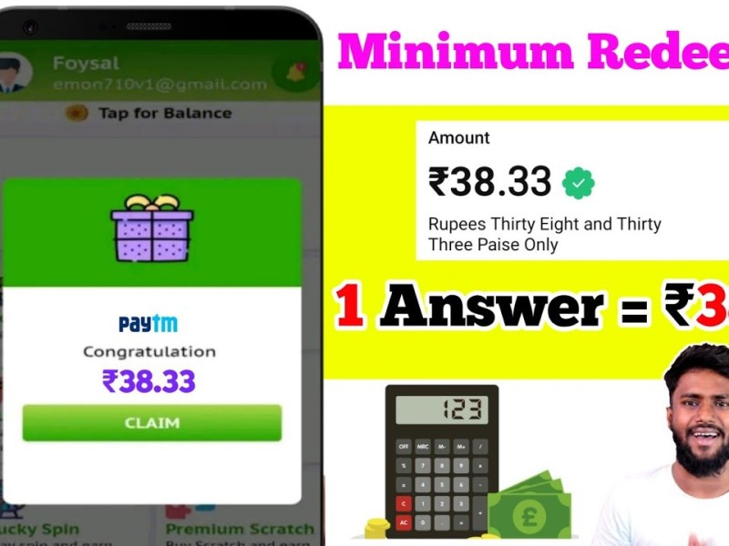 Minimum Withdraw ₹1 🔴LIVE | New Earning Apps 2021 |Free Paytm Cash Daily Earn ₹380| Best Earning App