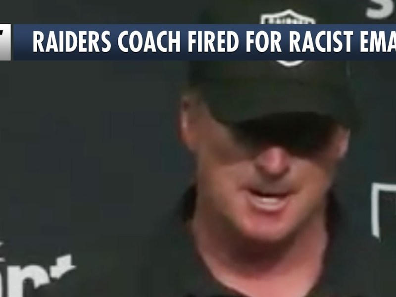 Racist Comments Get NFL Coach Jon Gruden Fired