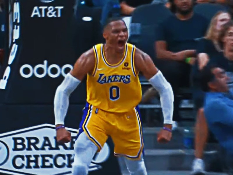 Russ IGNITES the Lakers in OT With HUGE Slam!