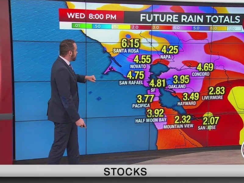 Second storm system showering into Bay Area