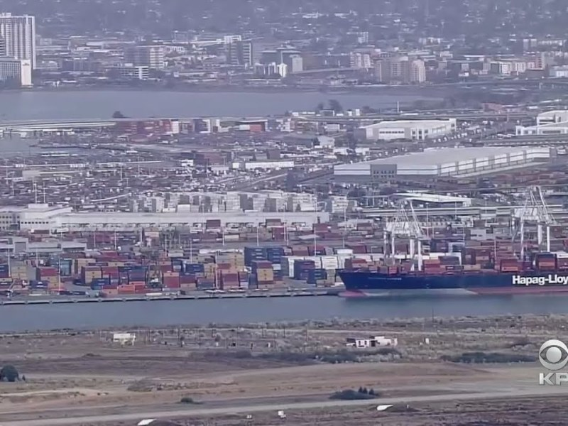 Ship Docked At Port Of Oakland May Have Played Role In Massive SoCal Oil Spill