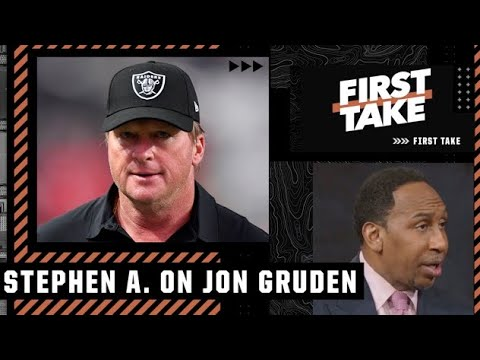 Stephen A. reacts to Jon Gruden resigning as the Raiders' head coach   First Take