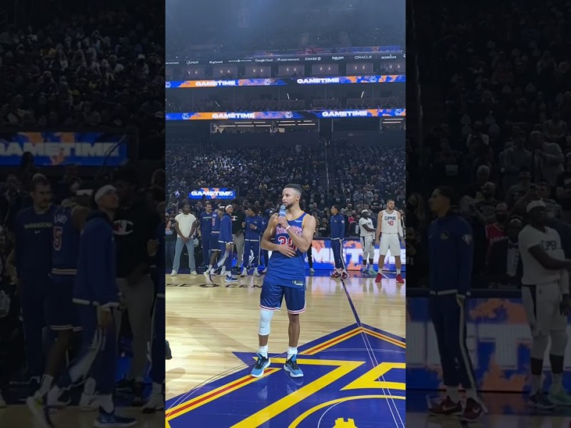 Stephen Curry Welcomes Fans Back to Chase Center