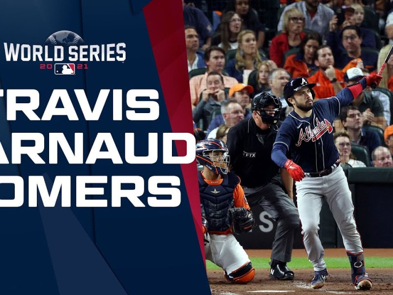 Travis d'Arnaud goes deep! Puts the Braves on the board in Game 2!