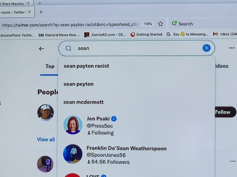 """Twitter Result As Of 6:58 PM EST: Type """"Sean"""" And """"Sean Payton Racist"""" Is 1st Result That's Up"""