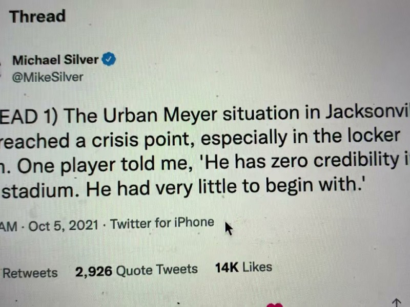 Urban Meyer Lap Dance Update – Mike Silver Says Jaguars Coach In Crisis With His Players