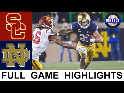 USC vs #13 Notre Dame Highlights | College Football Week 8 | 2021 College Football Highlights