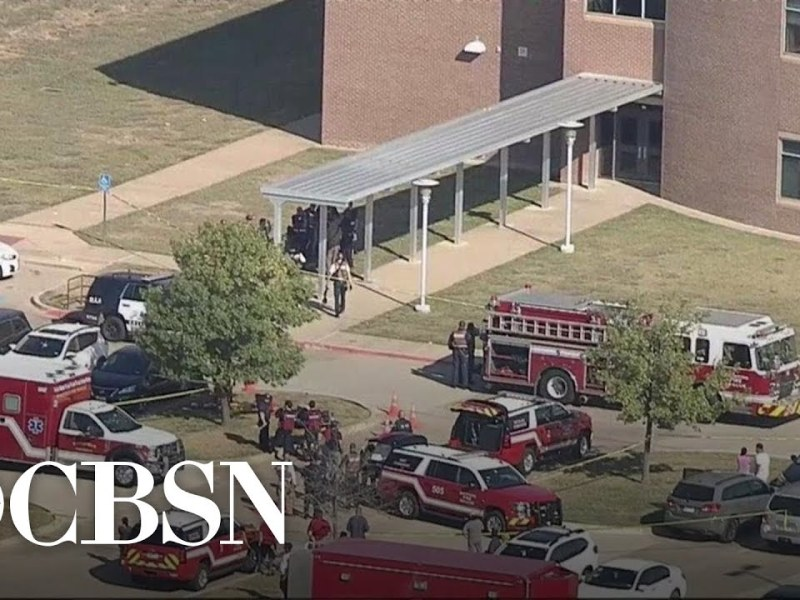 Watch Live: Shooting at Texas high school leaves 4 injured; suspect on the loose   CBSN