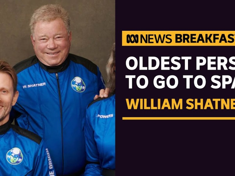 William Shatner becomes oldest person to go to space at age 90 | ABC News