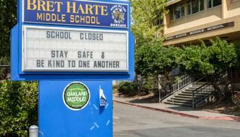 bret harte middle school sign