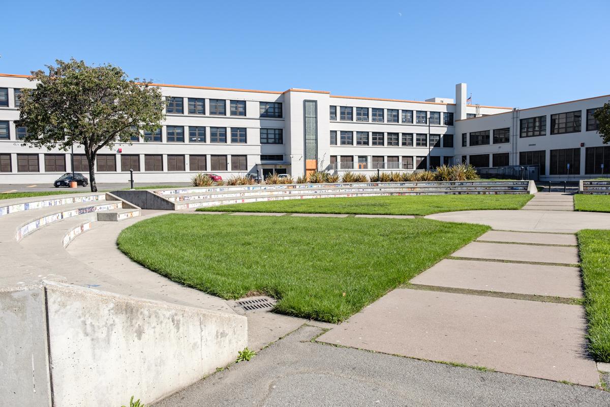 mcclymonds high school court yard