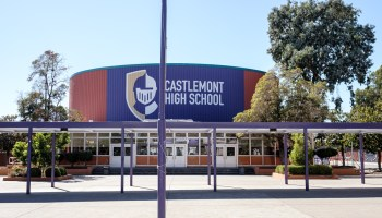 front of castlemont high school