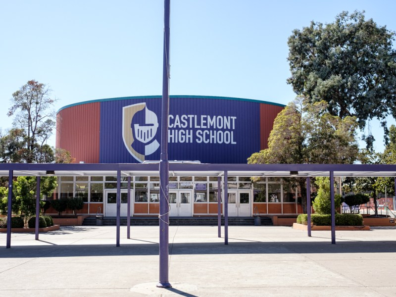 front of castlemont high school