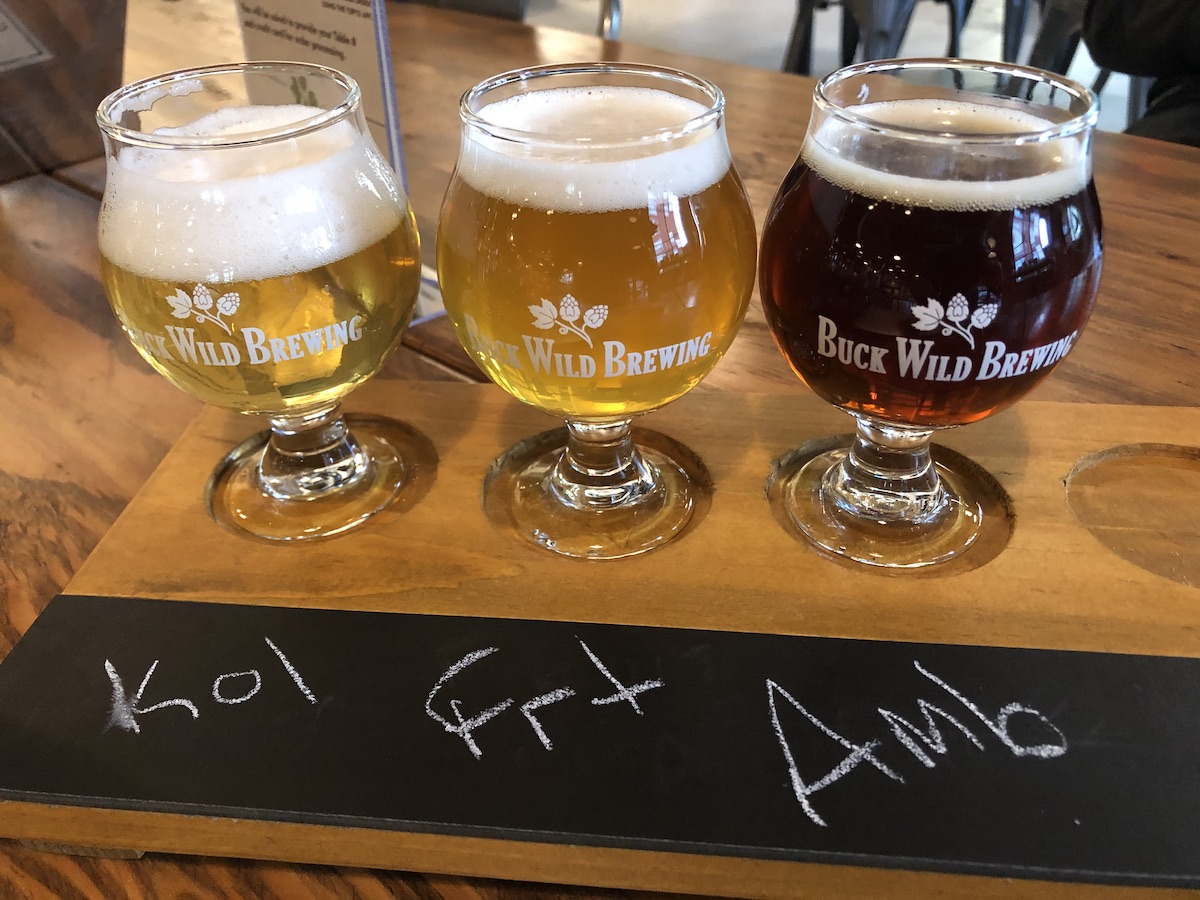 A selection of Buck Wild Brewing beers — all are gluten-free. Photo: Alix Wall