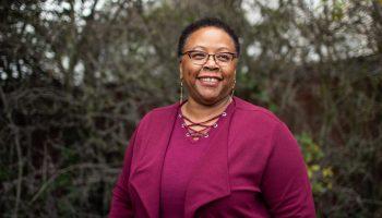 A portrait of Kym Johnson, Executive Director of BANANAS
