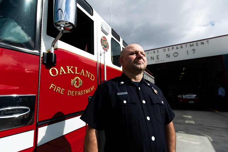 Oakland Fire Department Captain Porya Jeddi at Fire Station Number 17 on High Street in East Oakland.