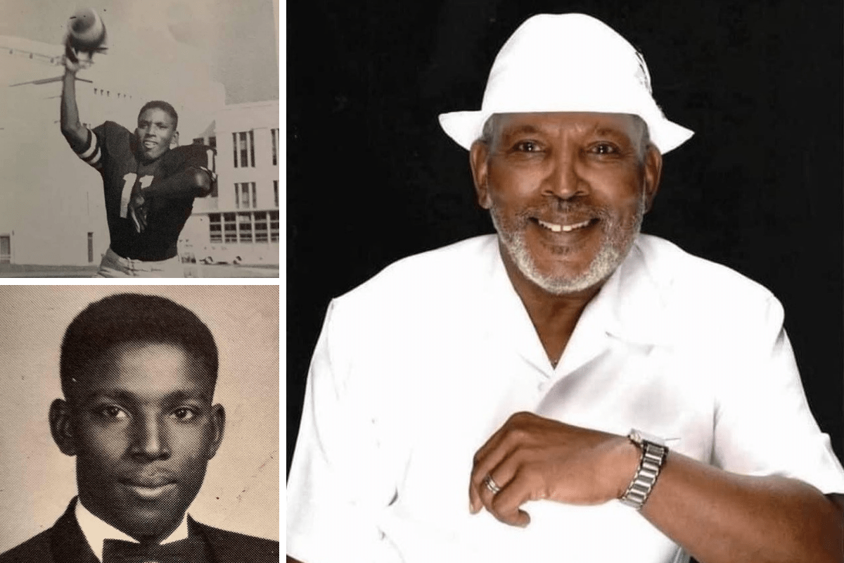 Yearbook photos from the early 1960s when Wayne Brooks was a student at Oakland Tech, along with a more recent photo of Mr. Brooks. The beloved, longtime educator passed away on Friday, March 19.