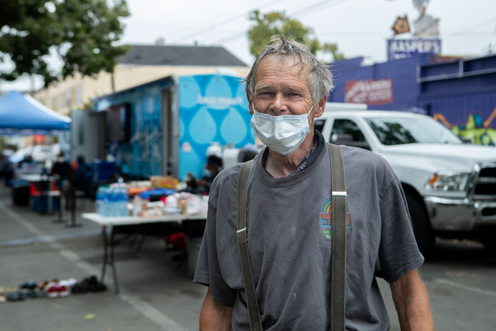 Homeless Oaklanders can start the day with a free hot shower in Temescal