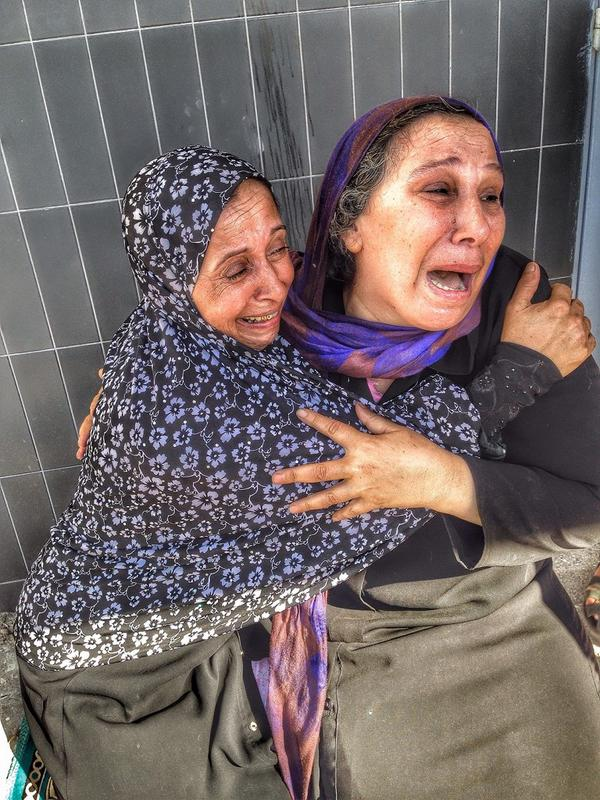Mother reacts on learning that her son was one of those murdered by the Israeli navy while he was playing on the beach.