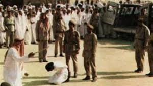 An execution in Saudi Arabia: One is done every other day, often for simply speaking out, and even sometimes of teen agers.