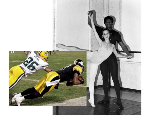 Former receiver Lynn Swann. He was famous for his grace and acrobatic catches. It's no accident that he studied ballet.