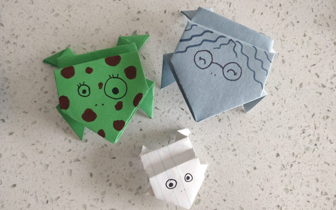 Arts & Crafts: Origami Jumping Frogs