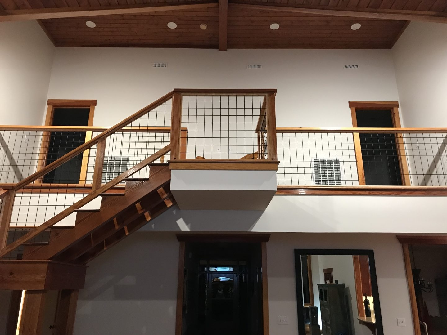 Wild Hog Railing Oakley Lumber   Hog Wire Stair Railing   Deck Stainless   Wire Lattice Deck   Wire Panel   Privacy Panel Cable Railing   Modern Farmhouse