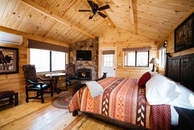 Cabin #13 Fireplace