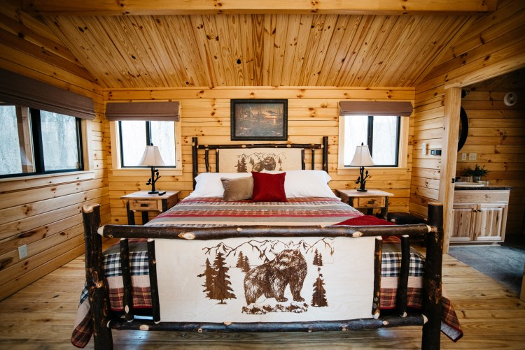 Cabin #5 Bed View