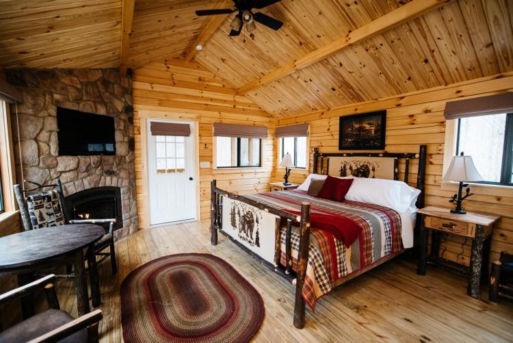 Cabin #5 Fireplace