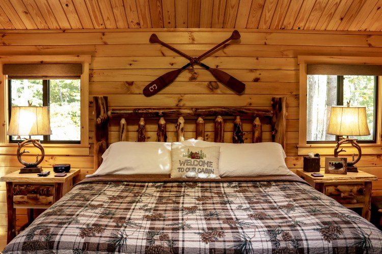 Cabin #7 Bed View
