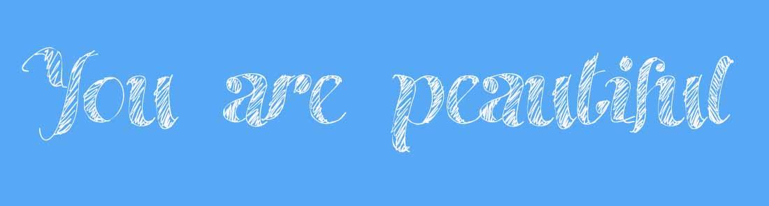 slogan you are peautiful