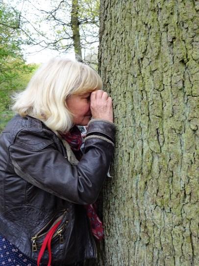 heather looking at lichen