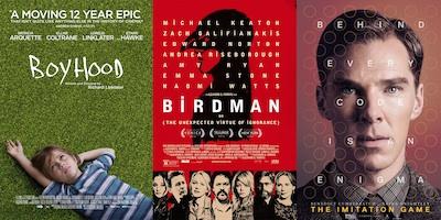 Boyhood, Birdman and The Imitation Game are all on critics' radars for top Oscars awards this year.