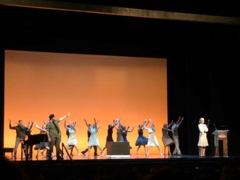 """Drama department honored, performs number from """"Evita"""" at Pantages Theater"""