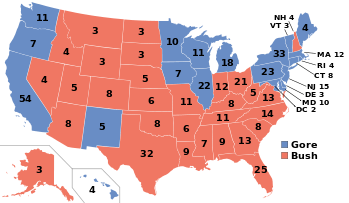 In the 2000 presidential election, Bush had a substantial lead in votes over Gore. Yet, partisan politics prevailed and placed Bush in the White House.