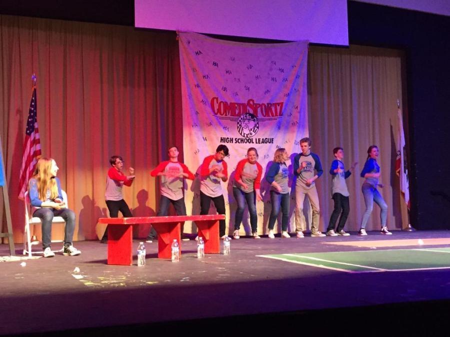 ComedySportz+members+perform+in+skits+at+the+Newbie+Game+Jan.+22+%28Akshita+Dondeti%2F+Talon%29.