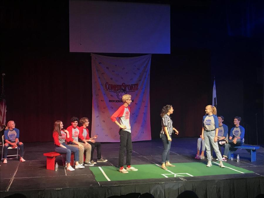 Students+compete+in+first+ComedySportz+game
