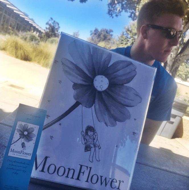 JD+Slajchert+with+his+new+book+%22Moonflower%22