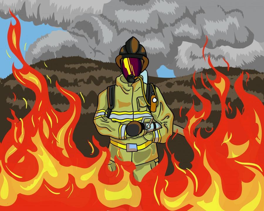 Flames go ablaze