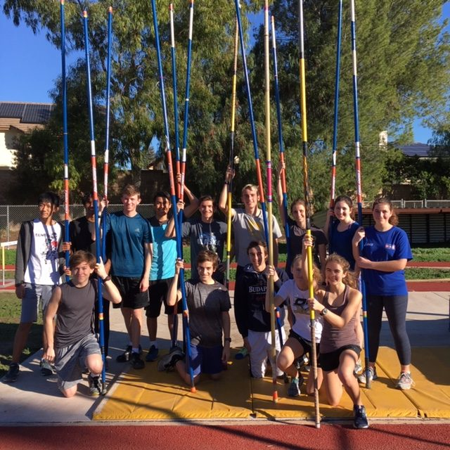 On Jan. 21, 14 members of the track team met for the first pole vaulting practice of the season