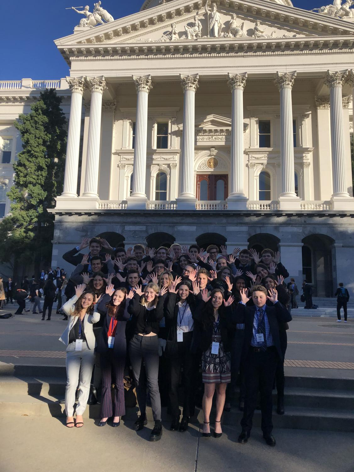 Triunfo Delegation consists of students from Oak Park High School, Agoura High School and Calabasas High School. Delegation visited state capital in February.
