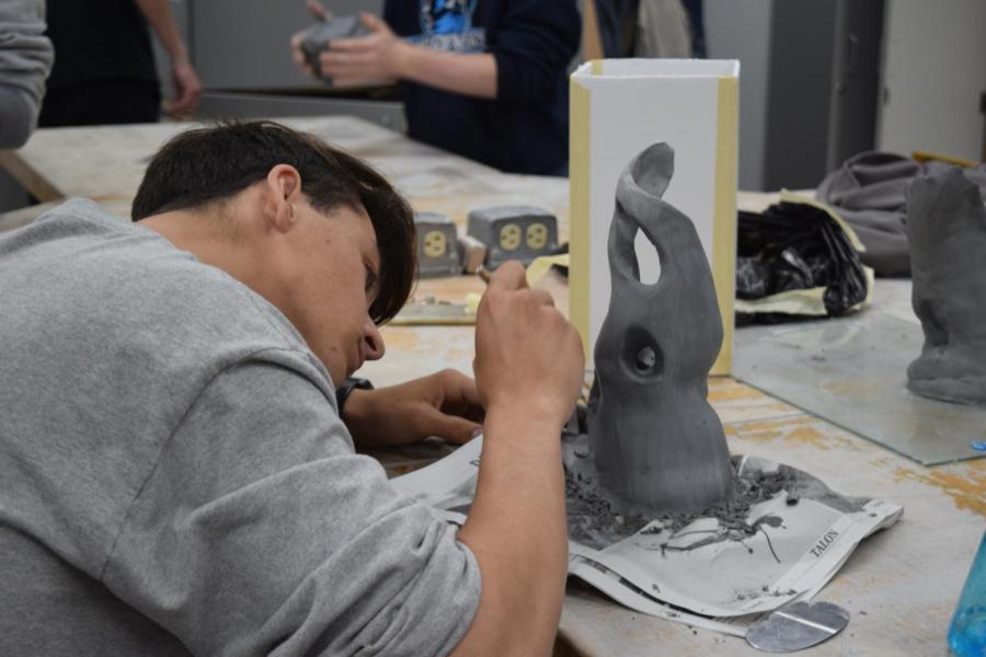 In Advanced 3-D Design, students apply 3-D design principles to projects they work on in class. The class encourages individual expression for each student.