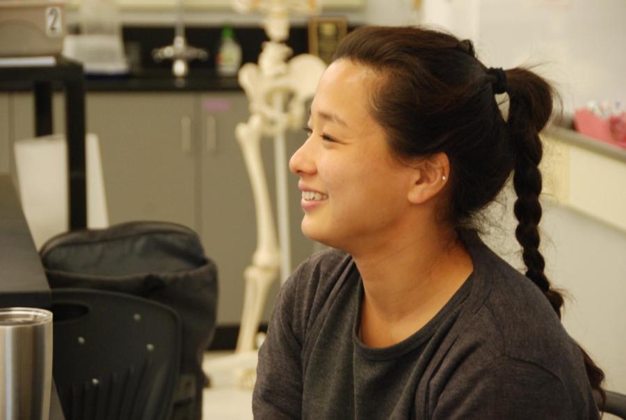 Science teacher Yukako Kawakatsu moving from