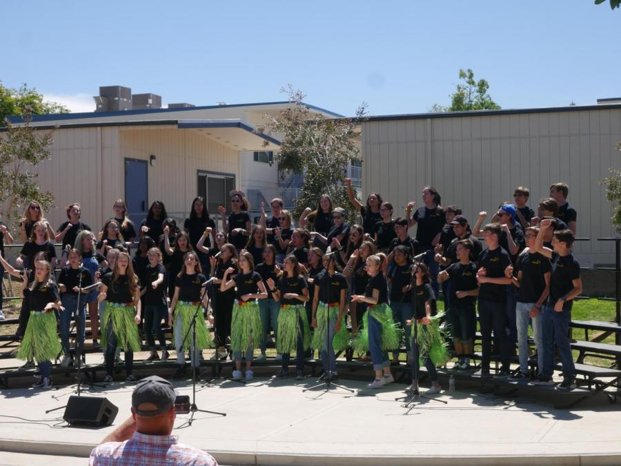 """Choir students perform Disney-inspired music from """"Lilo and Stitch."""