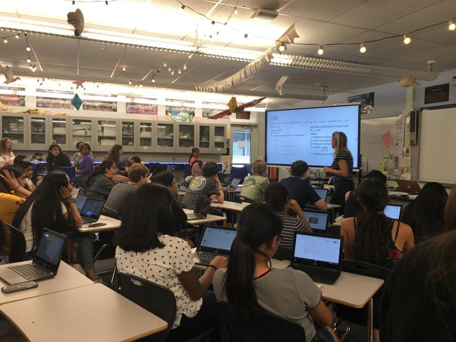 Chromebooks become integrated into the classroom for students to use for notes, essays, etc.