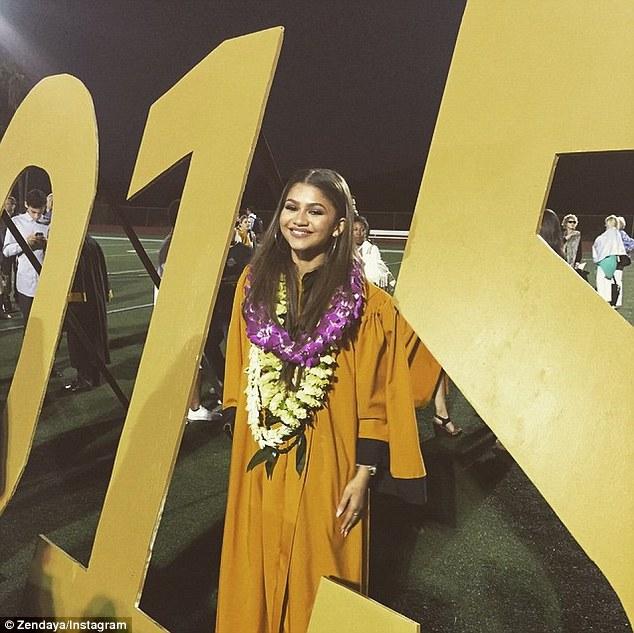 Zendaya at OPHS 2015 Graduation, taken off of her public Instagram account.