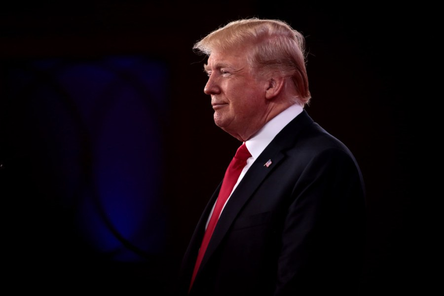 President of the United States Donald Trump speaking at the 2018 Conservative Political Action Conference (CPAC) in National Harbor, Maryland.