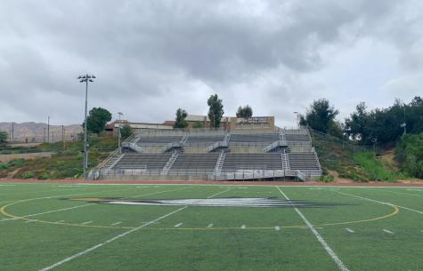 The football field is the site of many athletic practices and one of the few places students assemble on campus